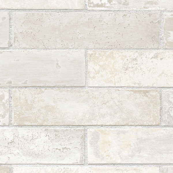 Faux Swiss Brick Cream, Gray - LL29532