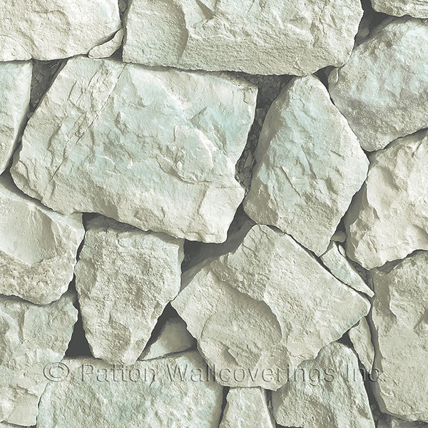 Aqua, Cream, Green Spanish Stone Design - LL36219
