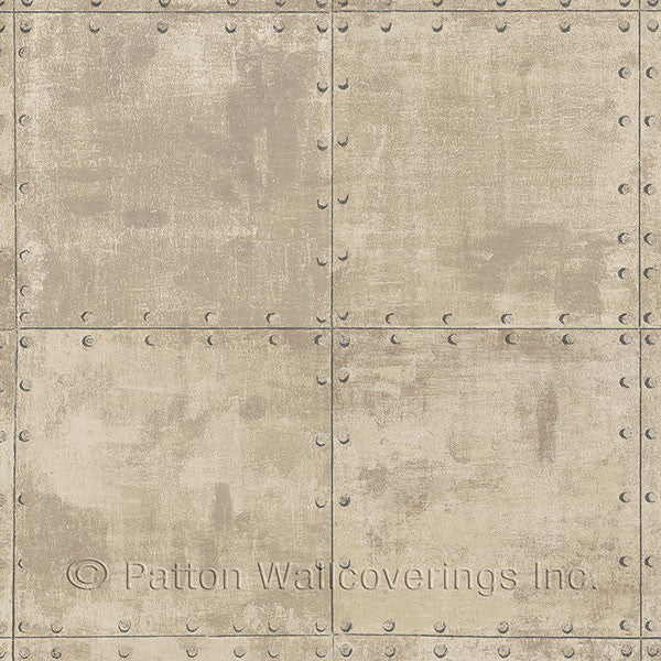 Beige, Brown Steel Tile Design - LL36227