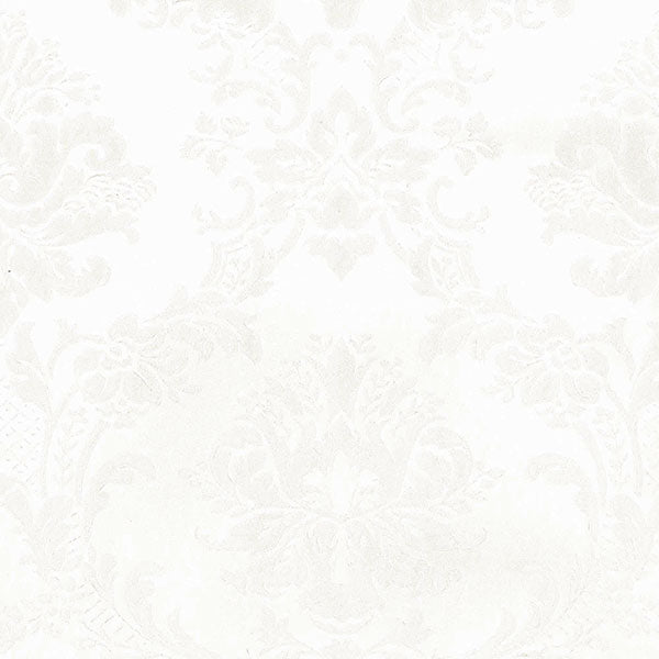 Classic Damask White, Pearl - MD29432