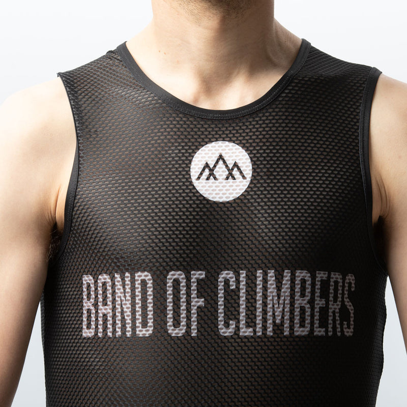 Mountains Mesh Sleeveless Base Layer - Black