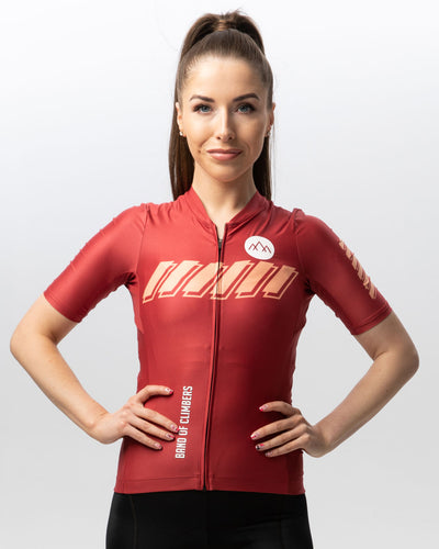 Women's Pro Ascent Jersey - Burgundy