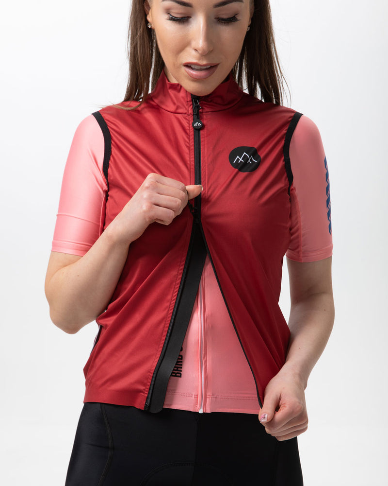 Women's Izoard Wind Gilet - Burgundy