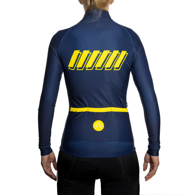 Women's ThermoAscent Long Sleeve Jersey - AquaNavy