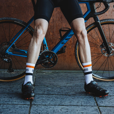 Vista Socks - White/Orange