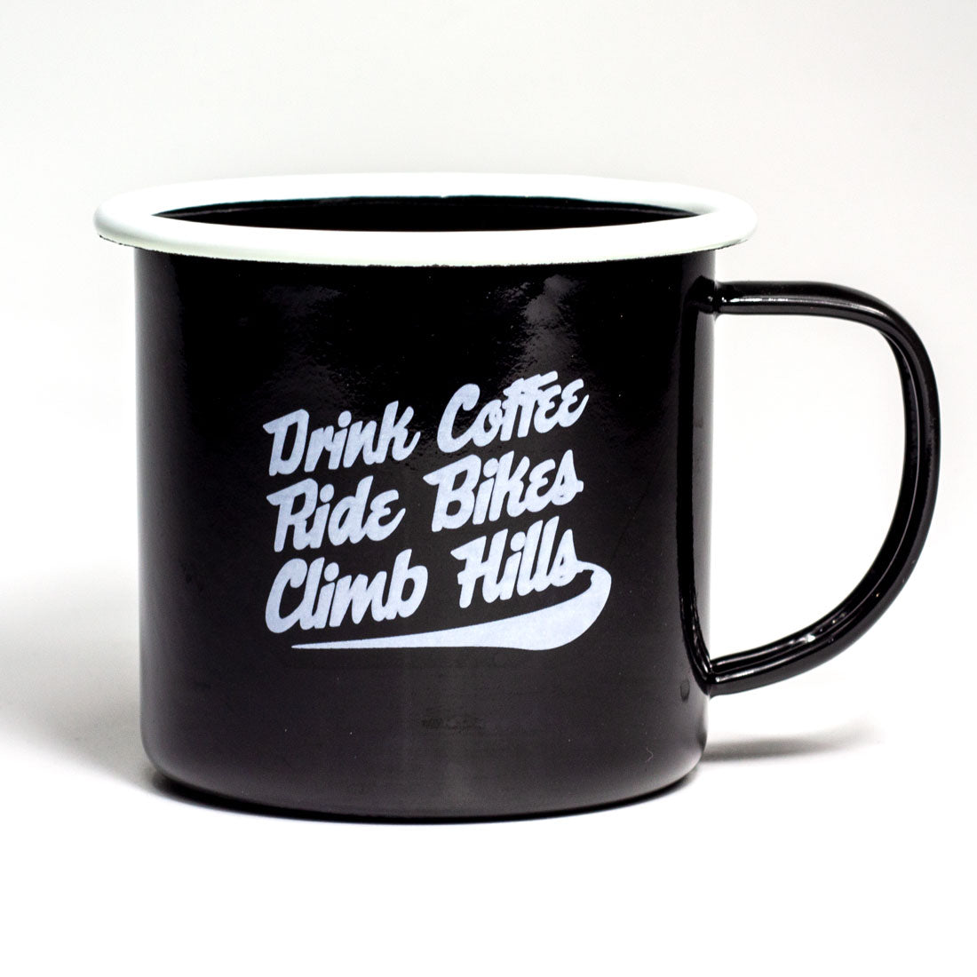 Drink Coffee Ride Bikes Enamel Mug
