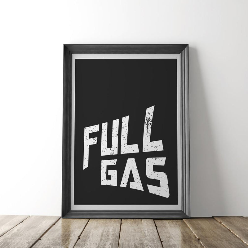 Full Gas Print - Black