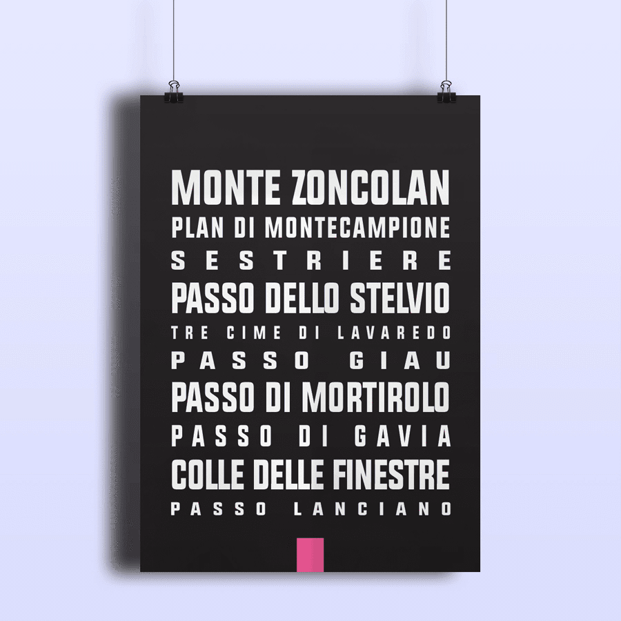 The Greatest Climbs of the Giro D'italia Print