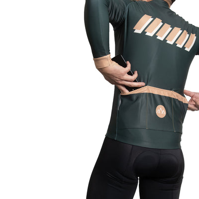 ThermoAscent Long Sleeve Jersey - Olive Green