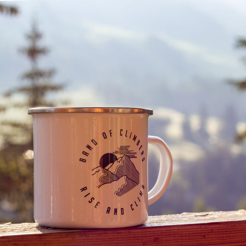 Rise and Climb Enamel Mug