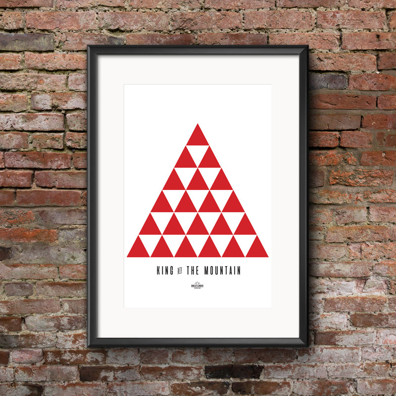 King of the Mountain Geometric Print