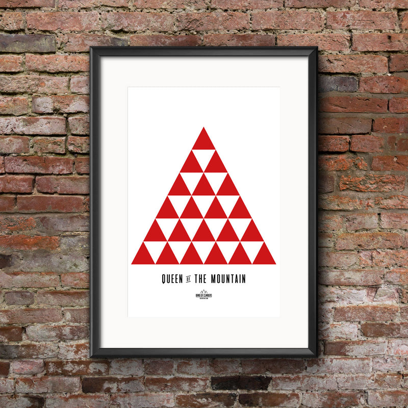 Queen of the Mountain Geometric Print