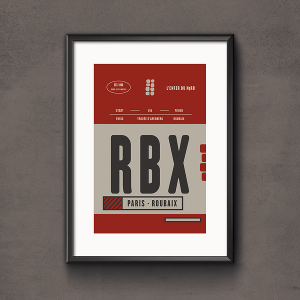 Paris Roubaix Race Pass Print