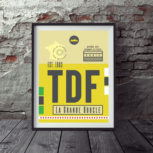 Tour de France Race Pass Print