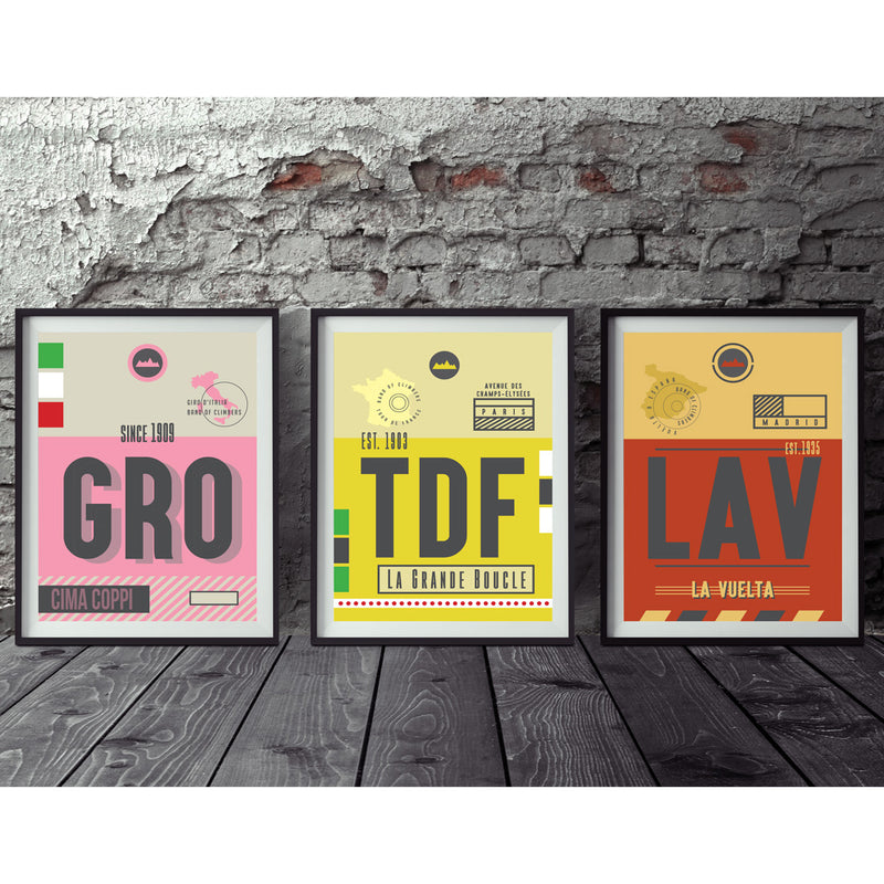 The Grand Tour Collection of Race Pass Prints