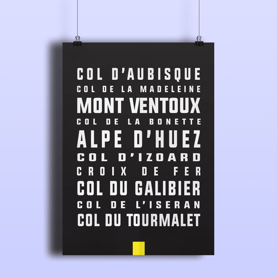The Greatest Climbs of the Tour de France Print