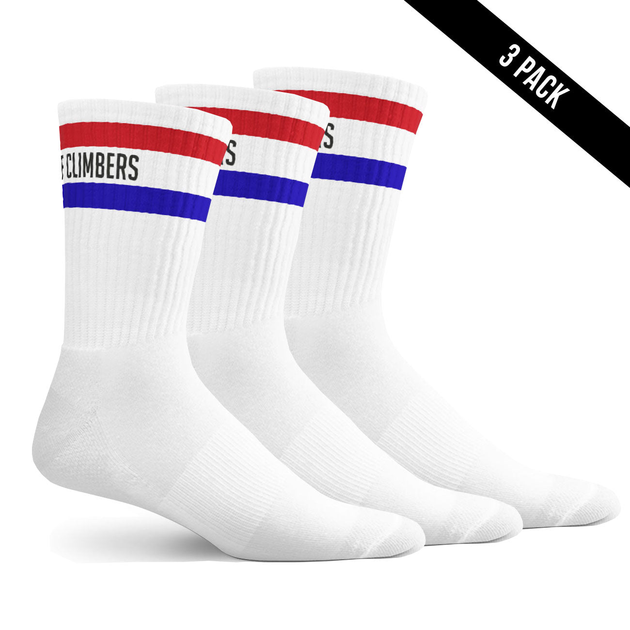 Band of Climbers Crew Sock - 3 pack - Retro