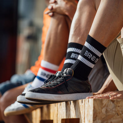 Band of Climbers Crew Sock - Black