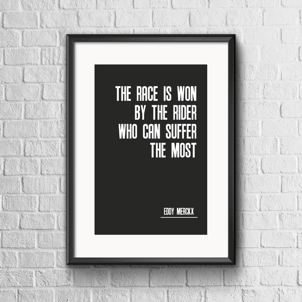 Suffer the Most Cycling Print - Black