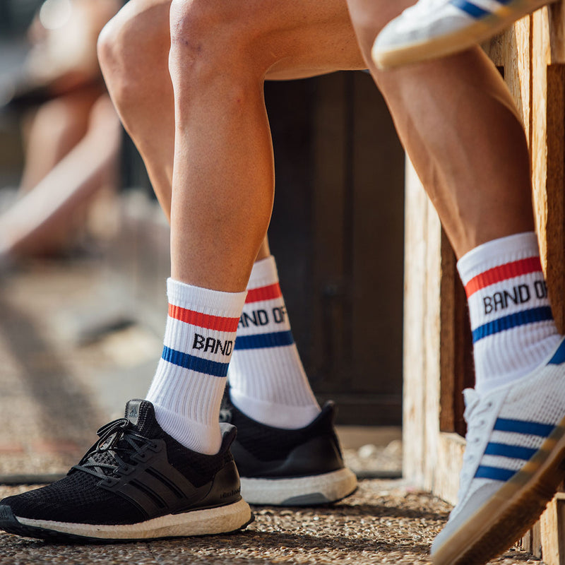Band of Climbers Crew Sock - Retro