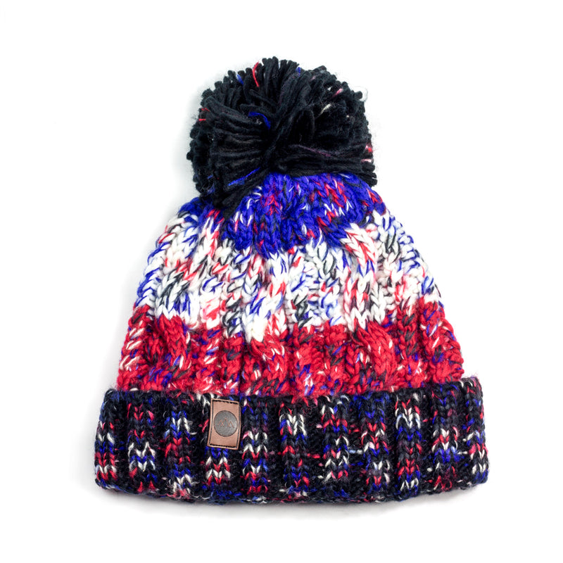 Into the Wild Bobble Hat - French Tricolour