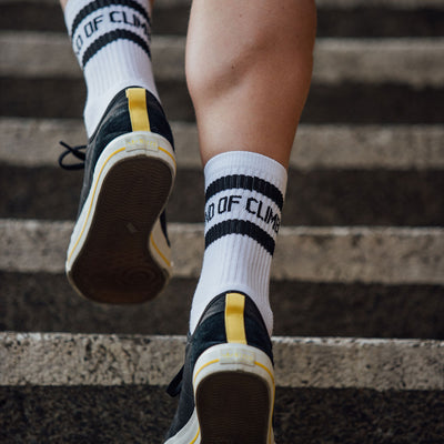 Band of Climbers Crew Sock - White