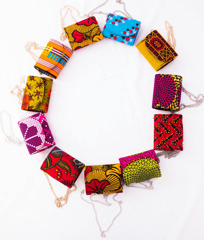 Ankara small purse- Girl standout beautiful print bags