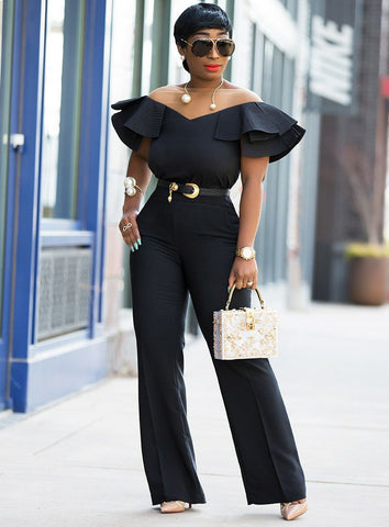 Alana- Big Ruffle Sheer Off-Shoulder blouse