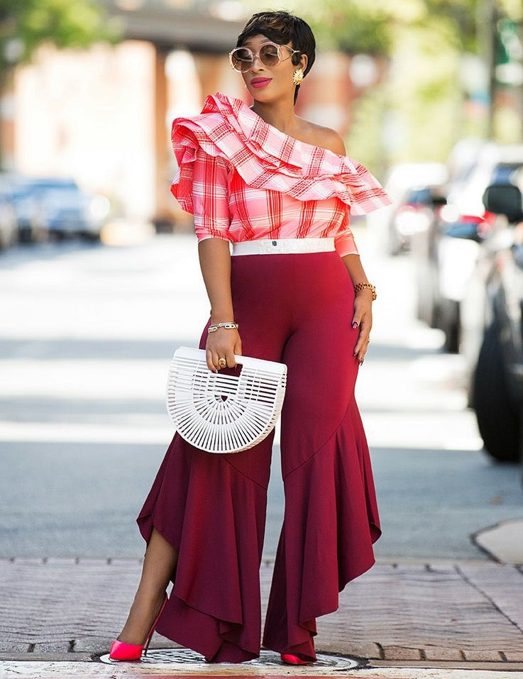 Beverly- Big Layer Ruffle Off Shoulder blouse