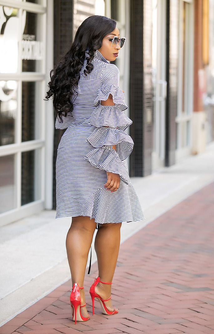 Karly- Layer Ruffle Sleeve Dress (FINAL SALE! NO REFUND! NO EXCHANGE)