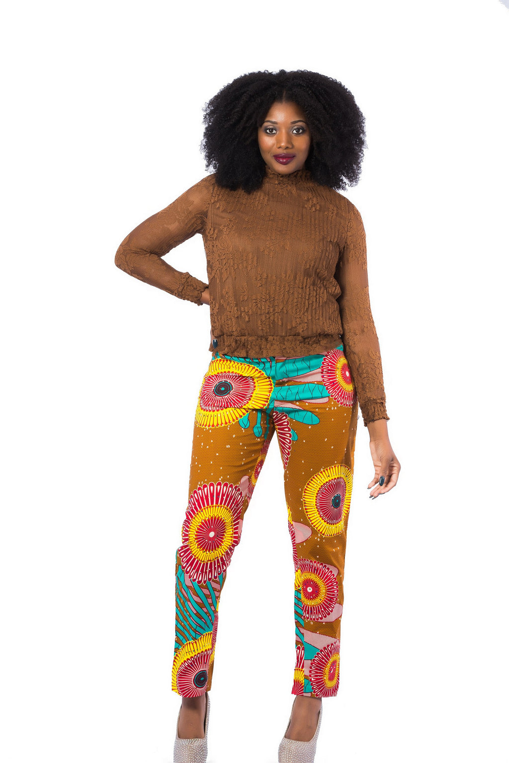 Shaday- Stoned Ankara pants (100% cotton wax fabric)