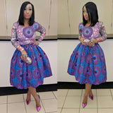 Oreke- Beautiful Lace/Stoned-Ankara Dress
