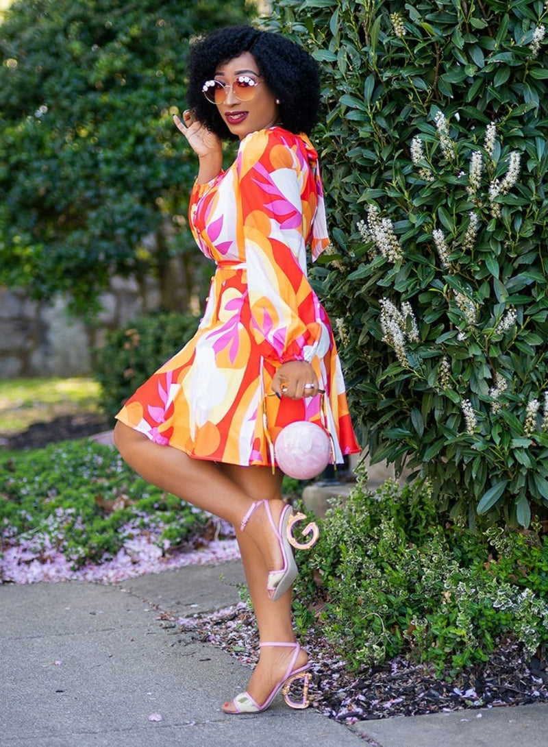 Lillie Florals- Skater Long Sleeve Dress