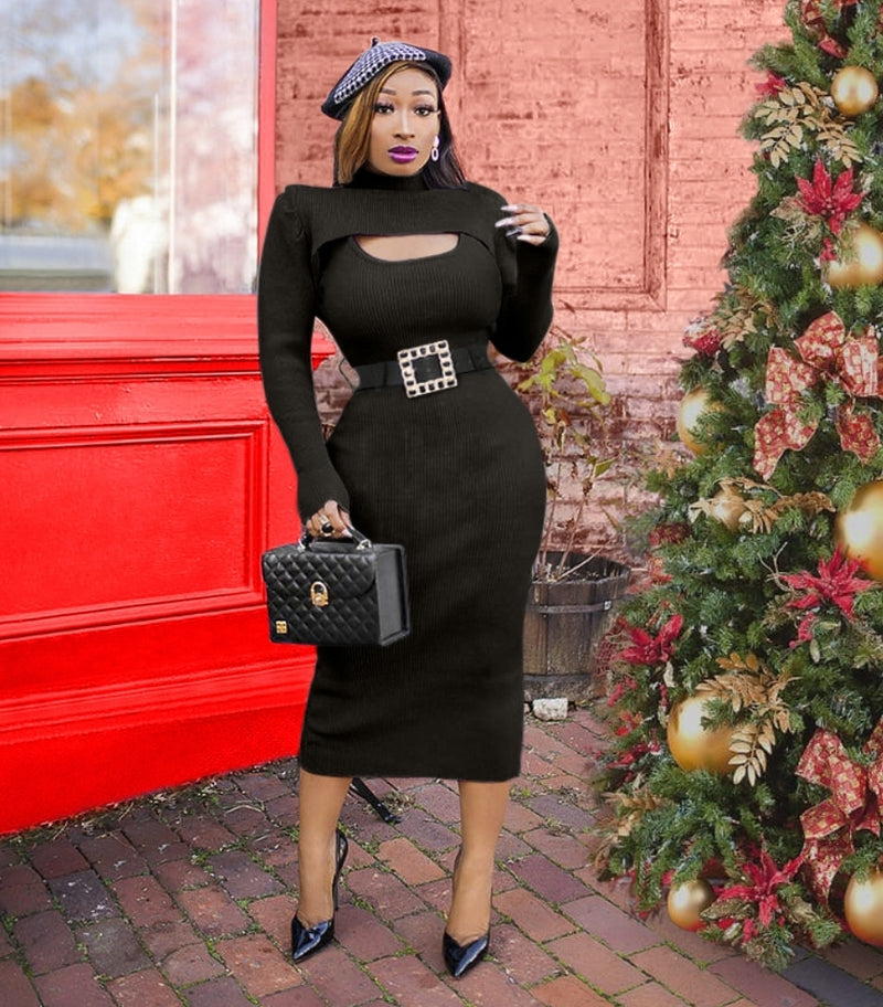 Serena- Two piece Shrug/Sweater Dress SET