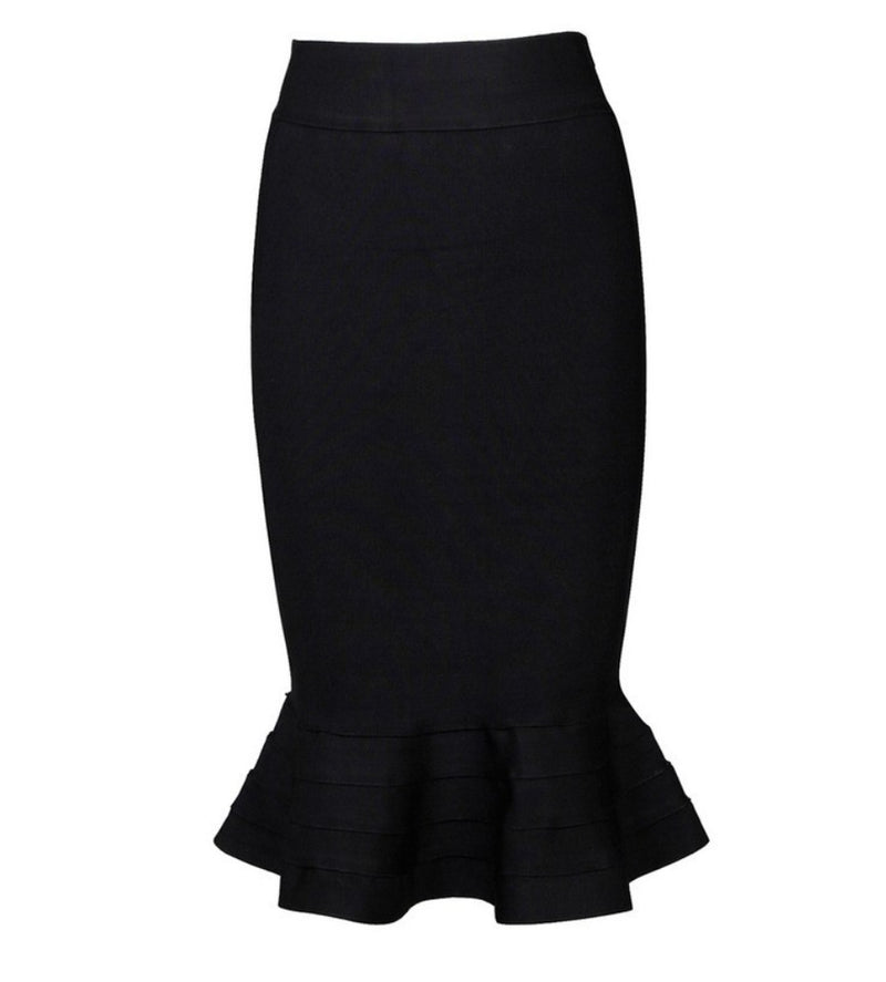 Genevieve-Fishtail Bandage skirt