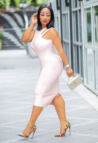 Petunia- Double Strap Bandage Dress