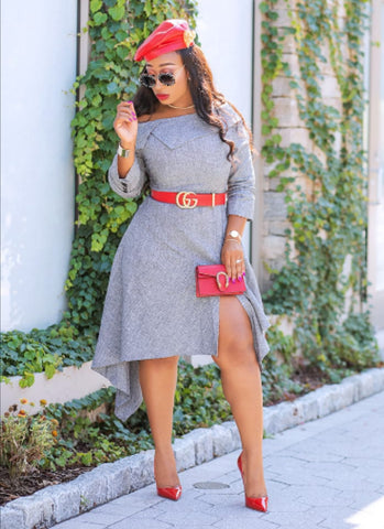 Reena- Tweed Asymmetrical Dress