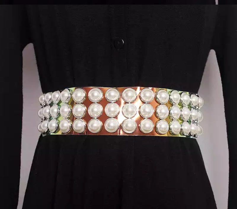 Pearlized Transparent Wide Belt (NEW)