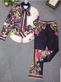 Orchid Paradise- 3pc Blouse/Pant SET (New)