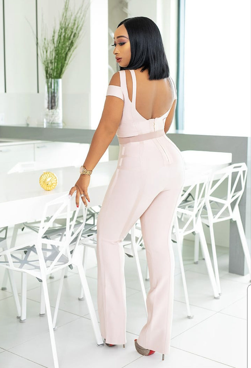 Alicia- Triple Strap Bandage Jumpsuit (NEW)