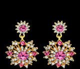 Spinelle- Pink Crystal drop gemstone statement earring