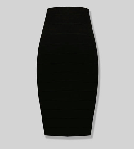 High Waist Knee-length Bandage skirt