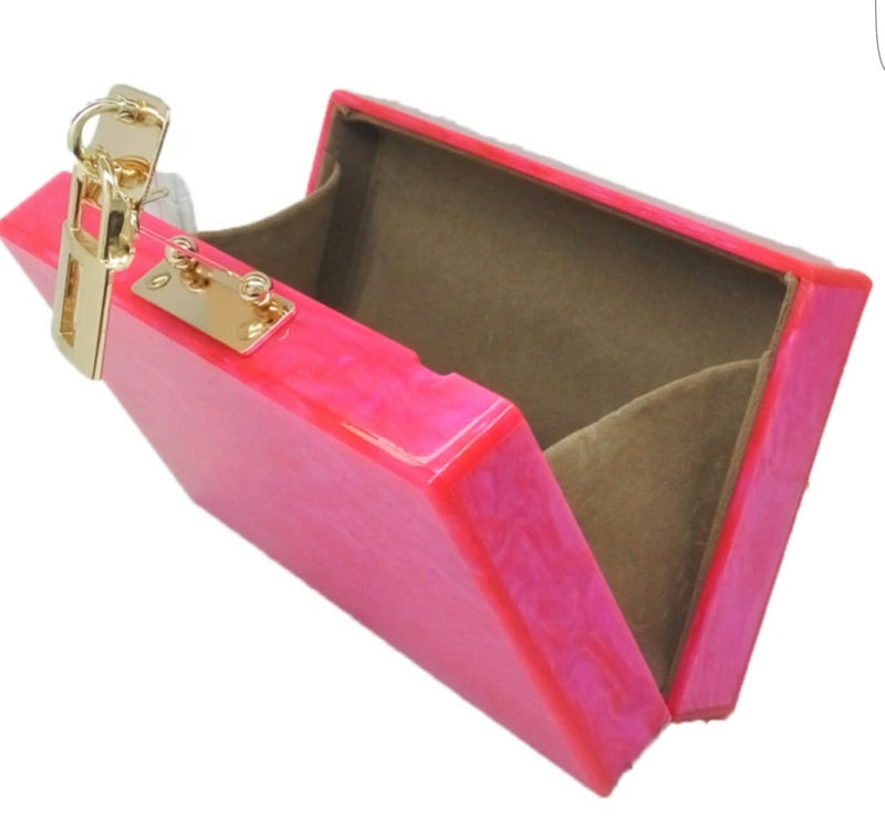 Acrylic Luxury Diamond Box Clutch