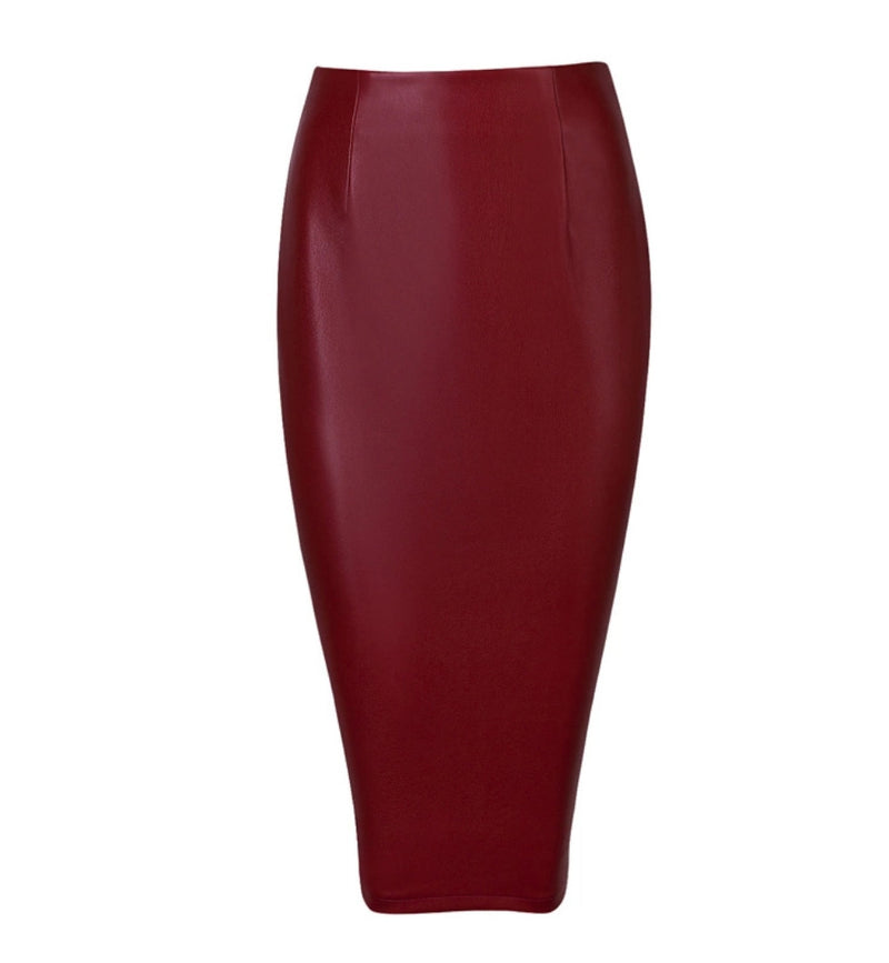 Boss Lady- High Waist Midi BANDAGE SKIRT (Multiple colors)