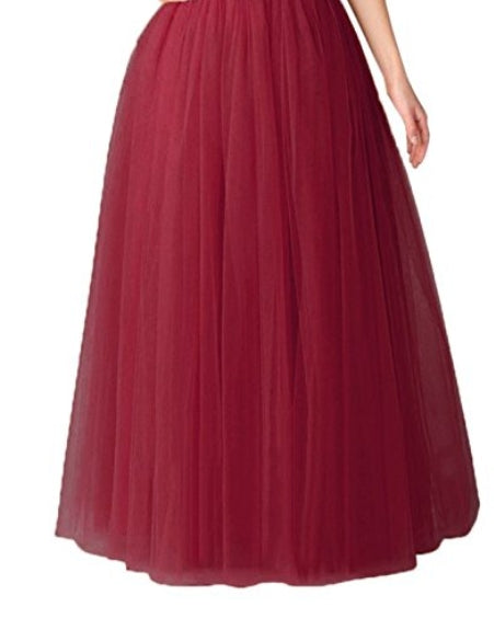 Tonia Floor length- Five Layer Tutu Full Skirt