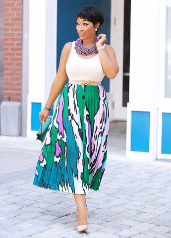 Kelly- Pleated Statement Skirt