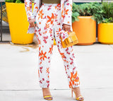 Autumn Bloom- 2pc Blazer/Pant Set (NEW)