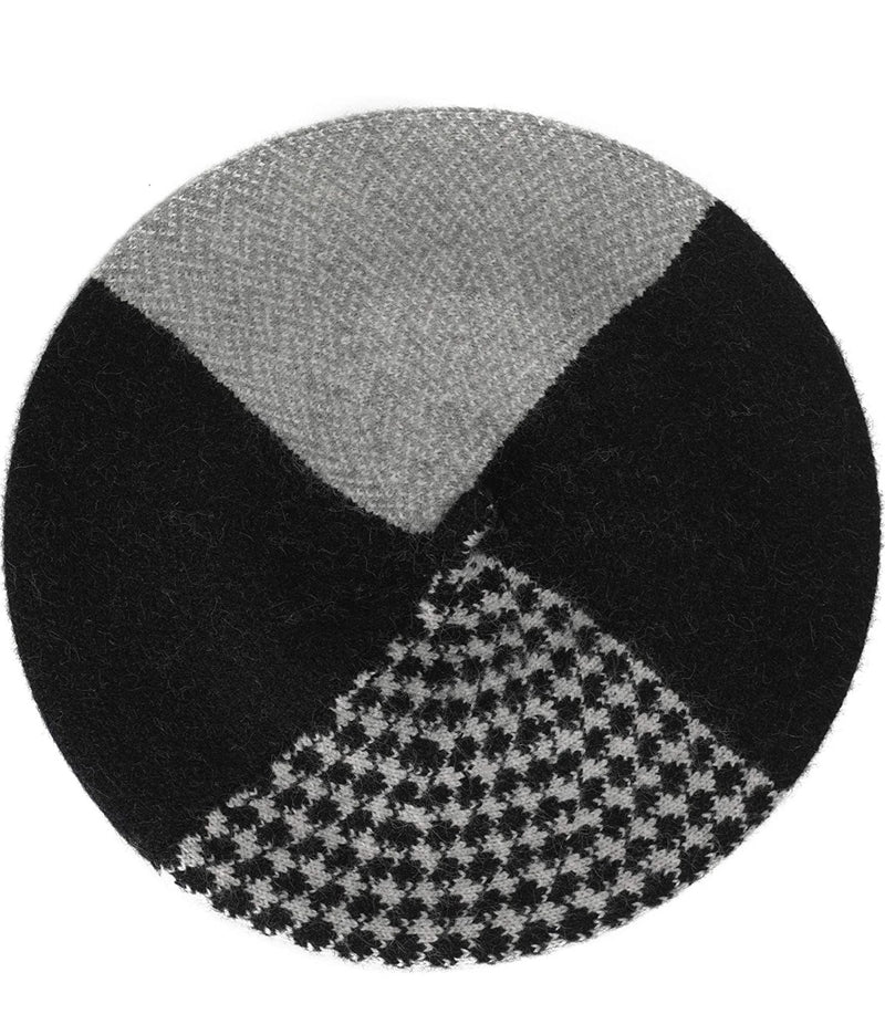 Houndstooth Colorblock- French Style Beret/Hat (New)