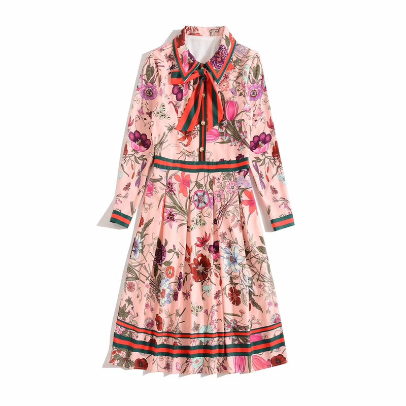 Amantha- Floral Pleated Dress (NEW)