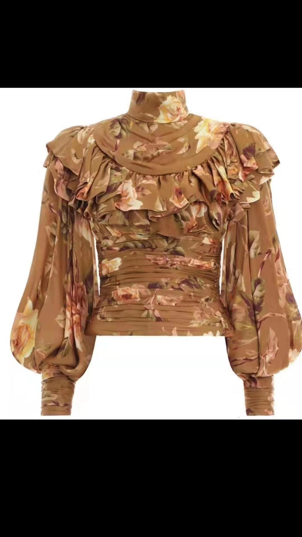 Golda Floral- Lantern Sleeve blouse (New)